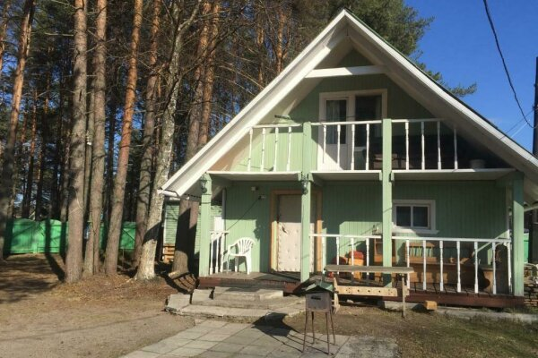 Дом с сауной для отдыха, 50 кв.м. на 3 человека, 1 спальня, Сяпся, пер. дачный, 10, посёлок Сяпся - Фотография 1