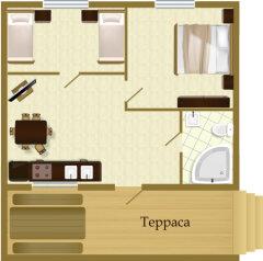 Дом Деревенский, 50 кв.м. на 4 человека, 2 спальни,  Дикий Гусь, 1, Осташков - Фотография 3