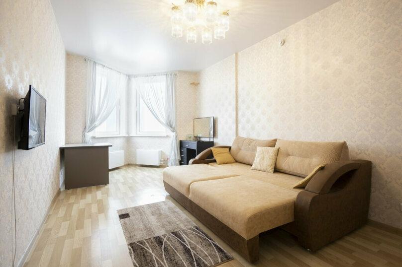 1-комн. квартира, 42 кв.м. на 2 человека, Октябрьская улица, 8А, Красноярск - Фотография 1