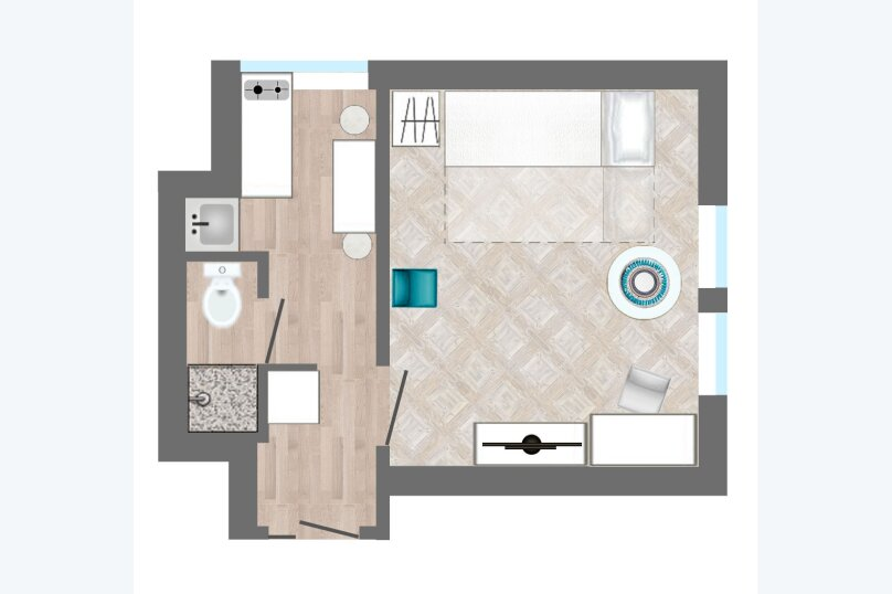 1-комн. квартира, 18 кв.м. на 2 человека, Малая Садовая улица, 1, метро Гостиный Двор, Санкт-Петербург - Фотография 15