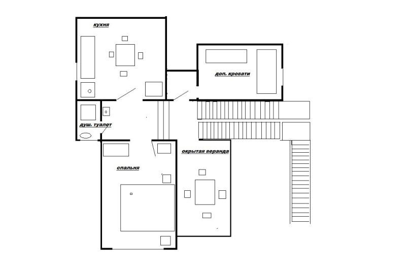 Домик с террасой (эконом класс для 2-4 чел) на 4 человека, 1 спальня, улица Моряков, 18, Лазаревское - Фотография 8
