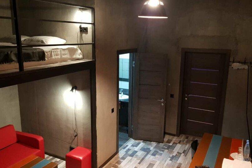 """Номер """"Лофт"""" с большой кроватью и диваном, микрорайон Силикат, 44, Котельники - Фотография 1"""