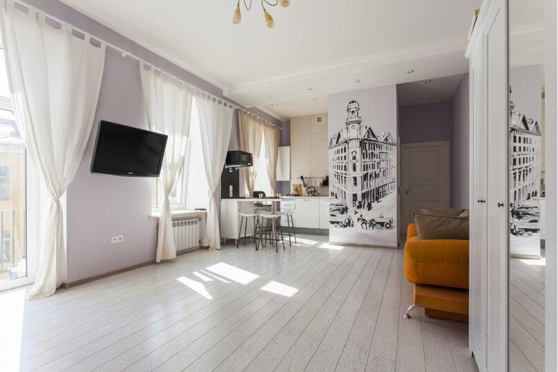 2-комн. квартира, 47 кв.м. на 6 человек, улица Рубинштейна, 30, Санкт-Петербург - Фотография 1