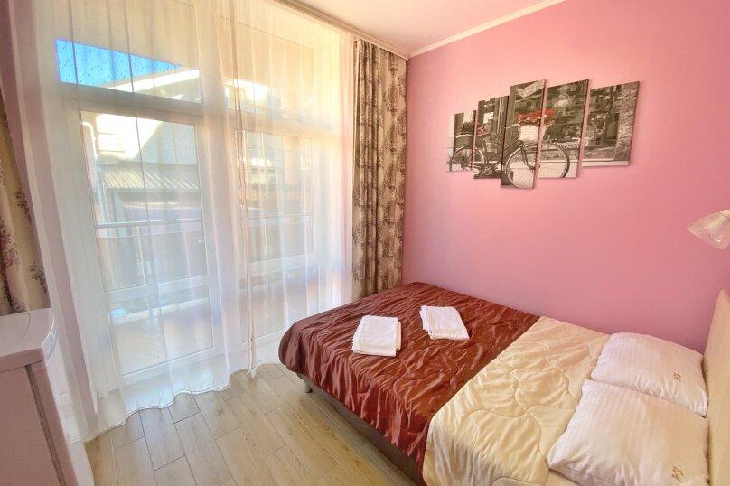 Двухместный номер с большой кроватью и собственной ванной комнатой(розовый), Прибрежная, 1А, Архипо-Осиповка - Фотография 2