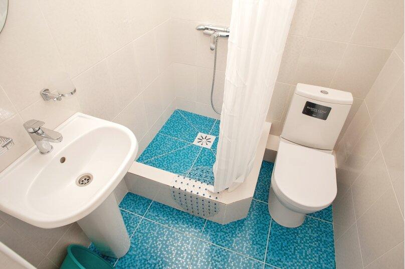 Двухместный номер с большой кроватью и собственной ванной комнатой(персиковый), Прибрежная, 1А, Архипо-Осиповка - Фотография 4