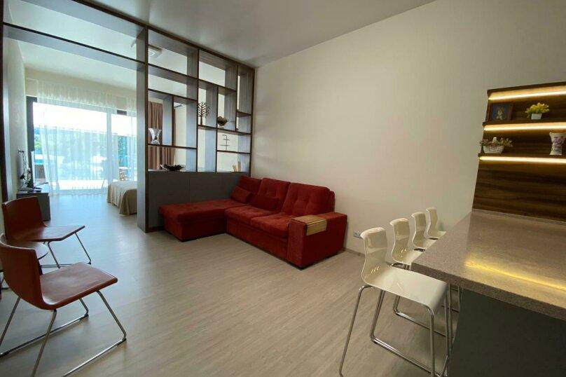 1-комн. квартира, 60 кв.м. на 4 человека, улица Васильченко, 6В, Партенит - Фотография 3