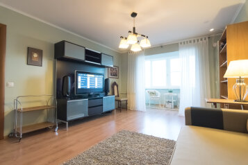 2-комн. квартира, 56 кв.м. на 4 человека, переулок Юннатов, 9, Великий Новгород - Фотография 1
