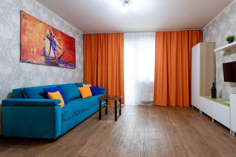 3-комн. квартира, 90 кв.м. на 8 человек, улица Авиаторов, 68, Красноярск - Фотография 2