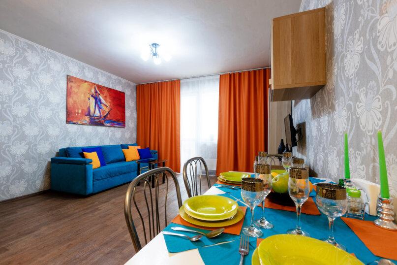 3-комн. квартира, 90 кв.м. на 8 человек, улица Авиаторов, 68, Красноярск - Фотография 3