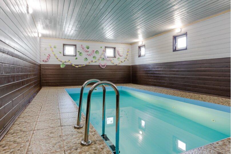 Уютный коттедж в Лесколово с тёплым бассейном и баней, 170 кв.м. на 16 человек, 4 спальни, Подгорная линия, 2959, Санкт-Петербург - Фотография 1