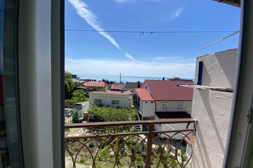 Двухместный номер с 1 кроватью и балконом, вид на море, Весенняя улица, 18А, Лоо - Фотография 1