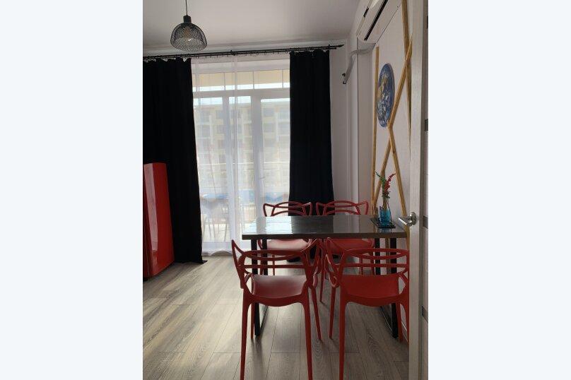 1-комн. квартира, 34 кв.м. на 4 человека, Мирная улица, 11к1, село Сукко - Фотография 17