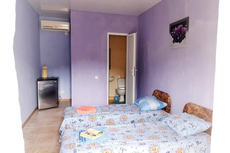 Номер на двоих сиреневый(две кровати)2 этаж, улица Ленина, 49, Коктебель - Фотография 1