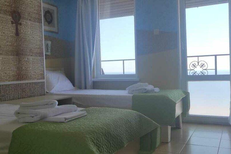 2-х местный номер на 2-ом этаже с раздельными кроватями, балкон с видом на море.(Египет), Балаклавский муниципальный округ, Снт Электрон , 44, Севастополь - Фотография 1