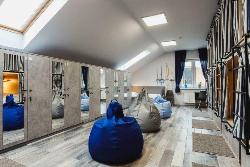 Кровать в 12-местном общем номере, посёлок Прибрежное, улица Южное Полукольцо, 4, Калининград - Фотография 1