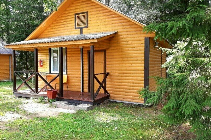 Одноэтажный деревянный зимний дом. Эконом-4, дер. Калгановка, ул. Приозерная, 10, Луга - Фотография 1