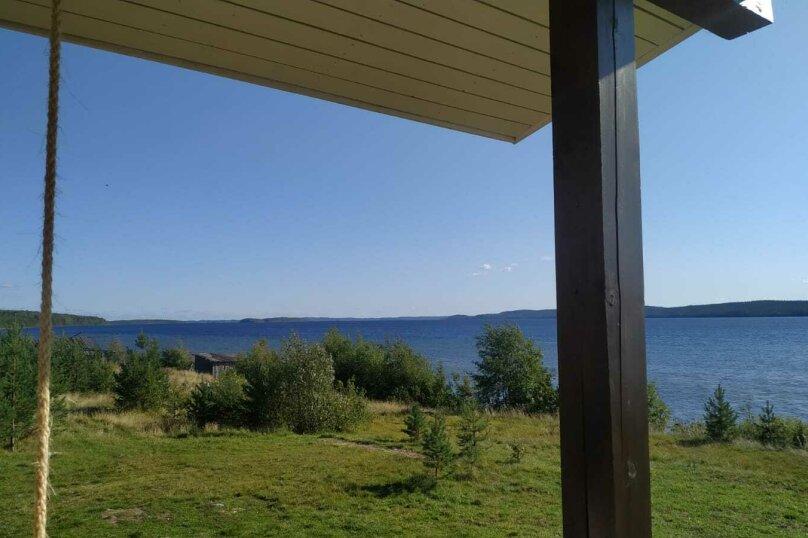 Дом на берегу озера Маслозеро, 100 кв.м. на 8 человек, 2 спальни, д. Маслозеро, Озёрная улица, 10А, Медвежьегорск - Фотография 55